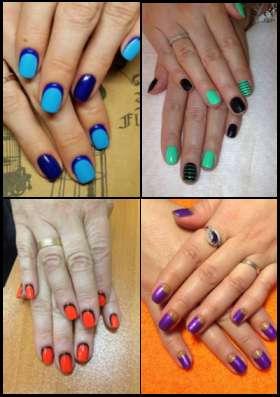 Маникюр, педикюр с покрытием гель-лак, восстановление ногтей