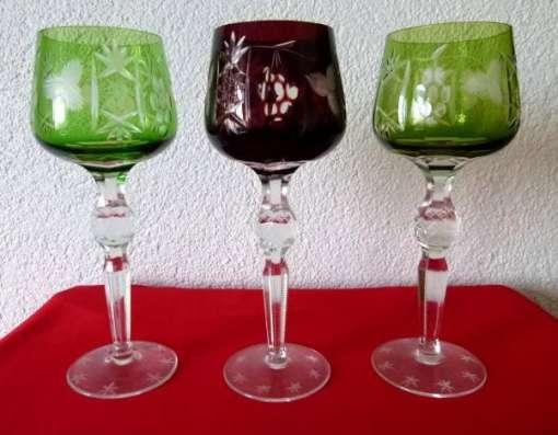 Три бокала.Хрусталь Фужеры.21 см Rоеmer.Вино