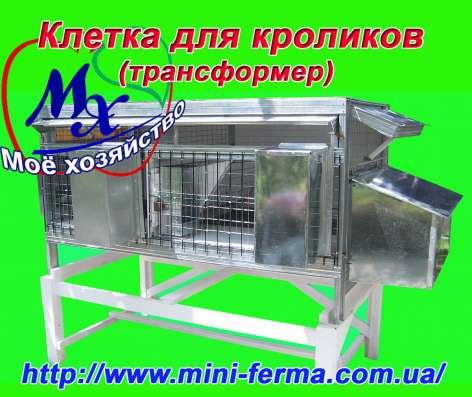 Клетки для содержания кроликов на улице.