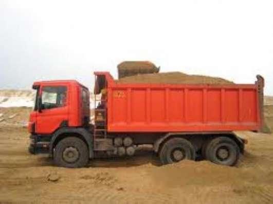 Доставка песка, щебня, земли