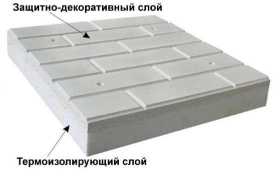 Фасадные декоративные панели с утеплителем полистирол в Краснодаре Фото 2