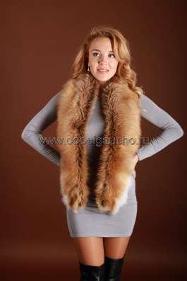 Шарфы, съёмные воротники из лисы и чернобурки