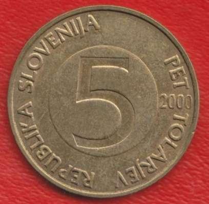 Словения 5 толаров 2000 г. Козел альпийский