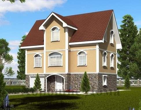 Строительство дома из газобетона 8.7x11.5 192.7 кв. м