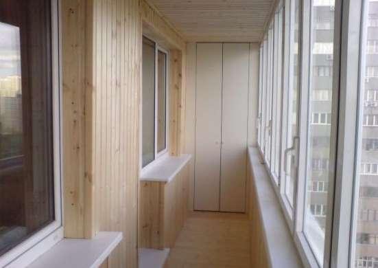 Обшивка вагонкой балконов в Харькове пластиковой, деревянной