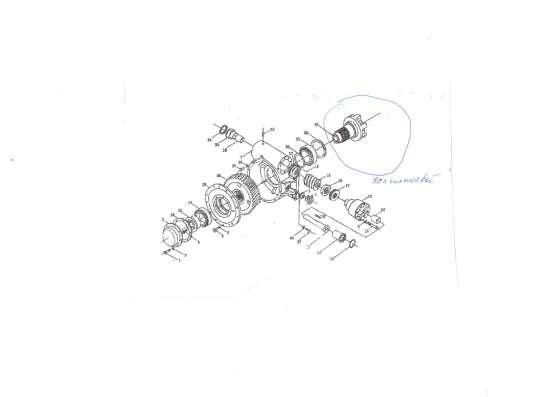 Вал-шестерня автогрейдера SEM-919, -922