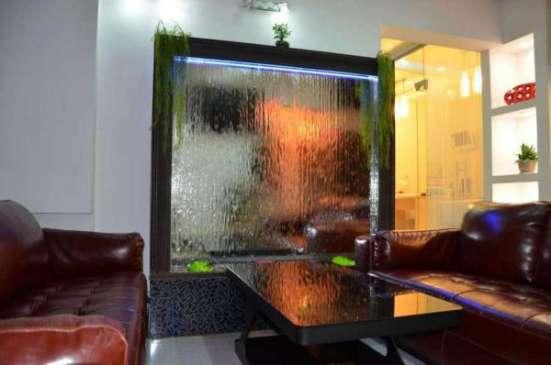 Пузырьковые панели и интерьерные водопады от производителя.
