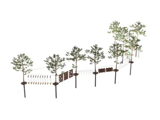 Веревочный парк, канатный городок