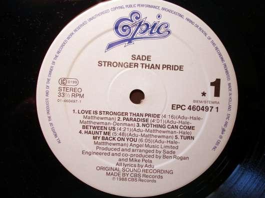Sade - Stronger Than Pride