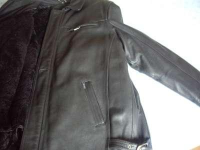 Новая мужская  кожаная куртка 3ХL