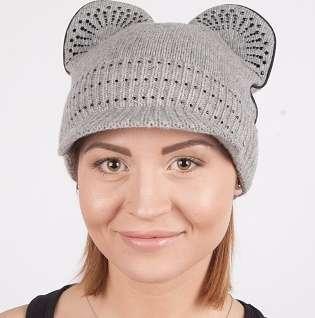 Женская трикотажная шапка мод. 438