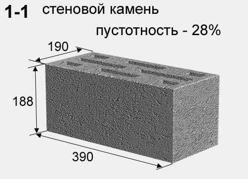 Шлакоблок стеновой и перегородочный от