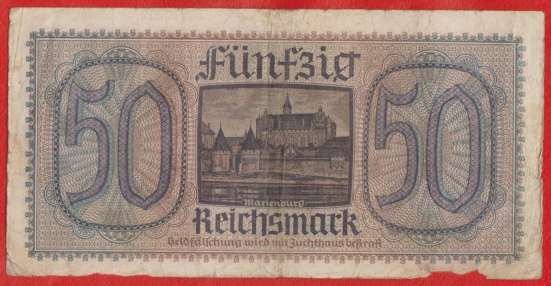 Германия 50 марок 1940 г