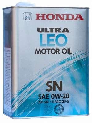 Масло HONDA Ultra LEO-SN 0W20 синтетическое 4литра