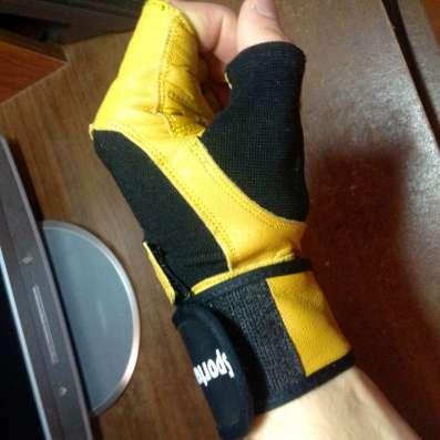 Кожаные перчатки для фитнеса Sportera