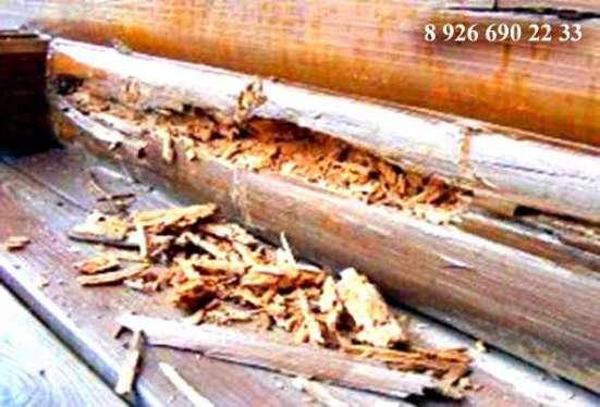 Заменить гнилые бревна в деревянном доме
