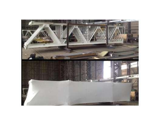 Укрытие стройматериалов в термоусадочную пленку