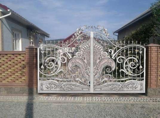 Ворота кованые, ворота калитка заказать, ворота ковка холодная, калитки под заказ в Барнауле Фото 1