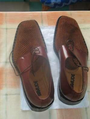 Мужские кожаные ботинки элитного бренда BRAUDE Италия в Москве Фото 1