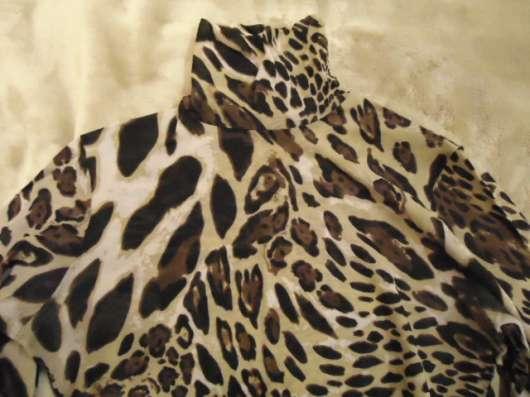 Водолазка из сетки, леопард, размер 44