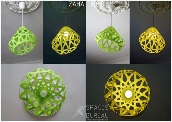 Светильник ZAHA LIGHT подвесной, зеленый