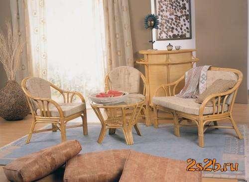 Мебель плетеная из натурального ротанга комплект 01.25