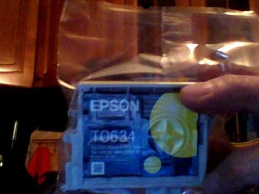 Картридж для струйника Эпсон жёлтый