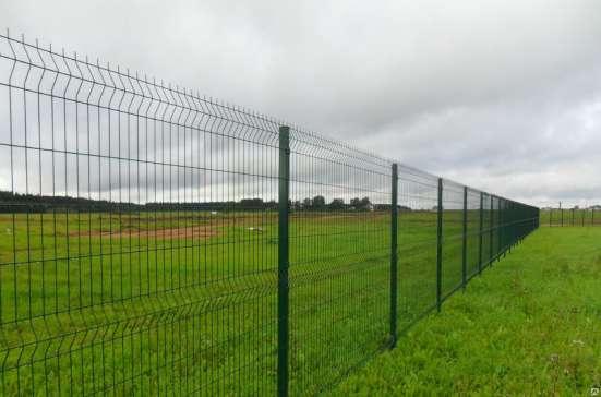 Еврозабор (3D забор из сварной сетки) Полимер 2030х3000х4 мм