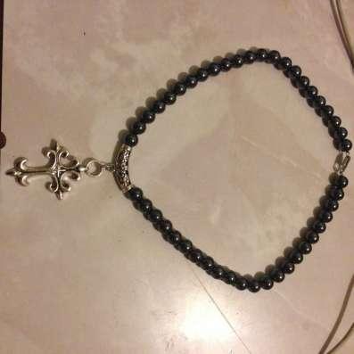 Готическое ожерелье из гематита