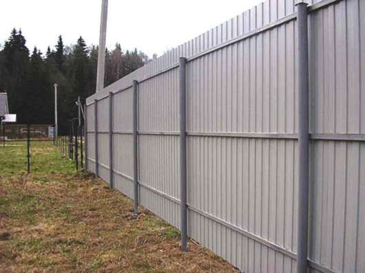 Забор из проф листа