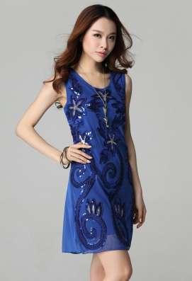 Платье синее праздничное (рассрочка без банка)