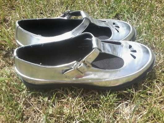 Стильные серебристые туфли!