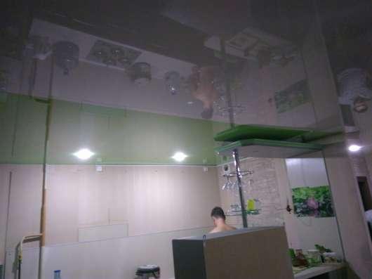 Монтаж натяжного потолка, спайка разных полотен,подходит под
