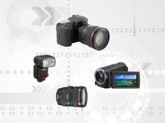Ремонт фотоаппаратов, объективов, видеокамер, фотовспышек