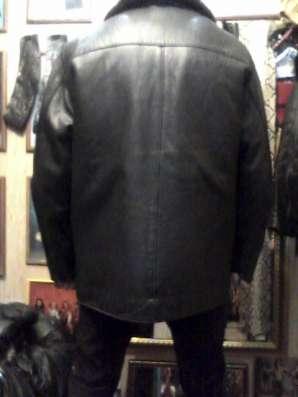 Продаю куртку кожаную мужскую с подстёжкой и воротом из меха в Барнауле Фото 1