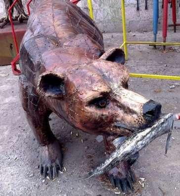 """Кованая скульптура""""Медведь"""""""