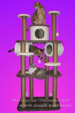 Игровые комплексы для кошек, когтеточки