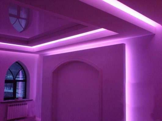 Открытая светодиодная лента SMD 5050 /60 розовая
