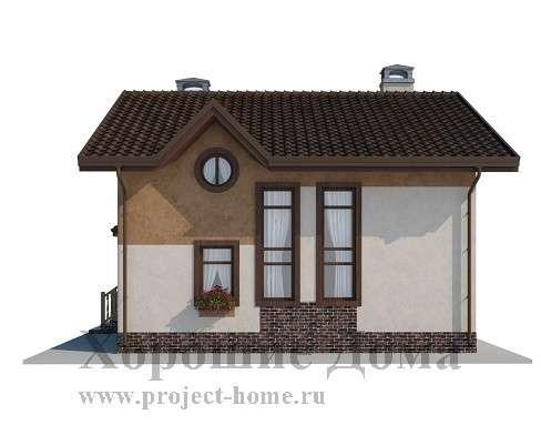 Строительство дома из газобетона 7.8x8.4 97.3 кв. м в Москве Фото 2