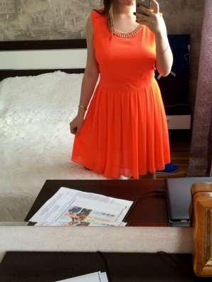 Оранжевое летнее платье