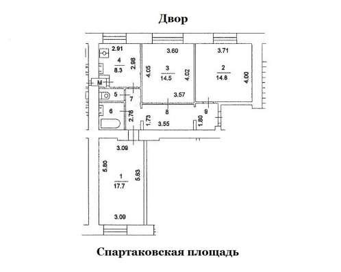 ЦАО. Продам 3-х комн. кв. в сталинском доме по цене 2-х комн в Москве Фото 1