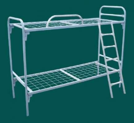 Двухъярусные железные кровати, для казарм, металлические кровати с ДСП спинками, кровати для бытовок, кровати по низкой цене. в Сочи Фото 2