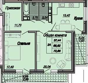 Квартира в комплексе бизнес-класса в центре Краснодара