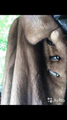 Норковая шуба, коричневого цвета