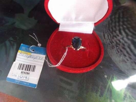 Новое с биркой кольцо с натуральным сапфиром 18.5раз.585пр