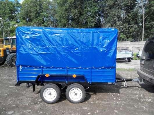 Двухосный прицеп для легкового автомобиля 2760х1560 с тентом и дугами в Москве Фото 3
