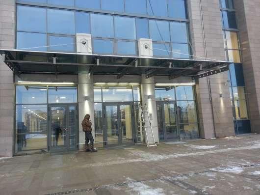 Стеклянные козырьки в Казани Фото 4