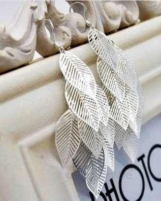 Серьги листики серебро в г. Львов Фото 1