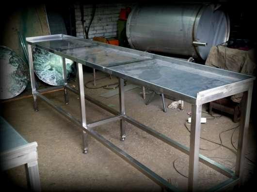 Стол металлический из нержавеющей стали