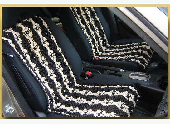 Плетеная накидка на сиденье автомобиля